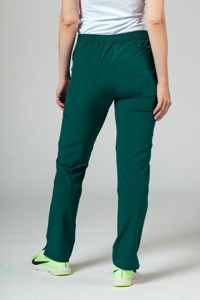 spodnie-medyczne-damskie Spodnie damskie Adar Uniforms Skinny Leg Cargo butelkowa zieleń