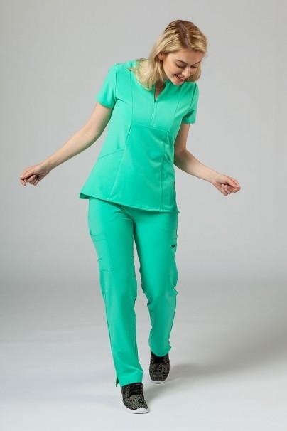 bluzy-medyczne-damskie Bluza damska Adar Uniforms Notched jasnozielona