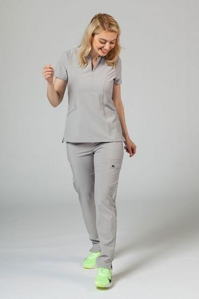 bluzy-medyczne-damskie Bluza damska Adar Uniforms Notched popielata