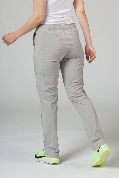 spodnie-medyczne-damskie Spodnie damskie Adar Uniforms Skinny Leg Cargo popielate