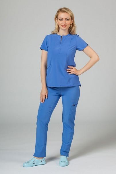 bluzy-medyczne-damskie Bluza damska Adar Uniforms Notched klasyczny błękit
