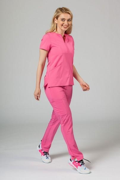 bluzy-medyczne-damskie Bluza damska Adar Uniforms Notched różowa