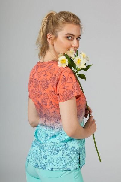 bluzy-we-wzory Kolorowa bluza damska Maevn Prints słoneczne kwiaty