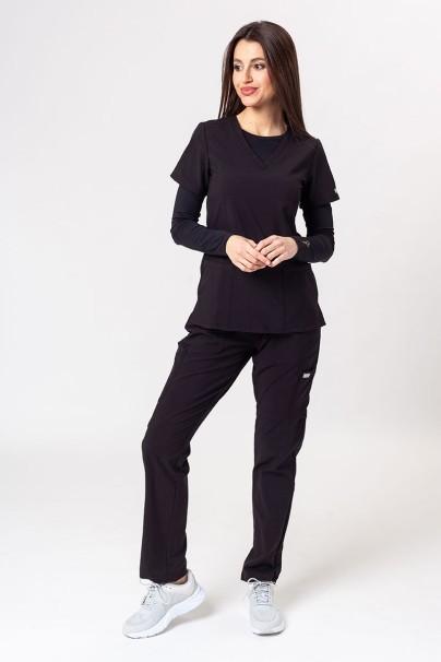 bluzy-medyczne-damskie Bluza damska Maevn Matrix różowa