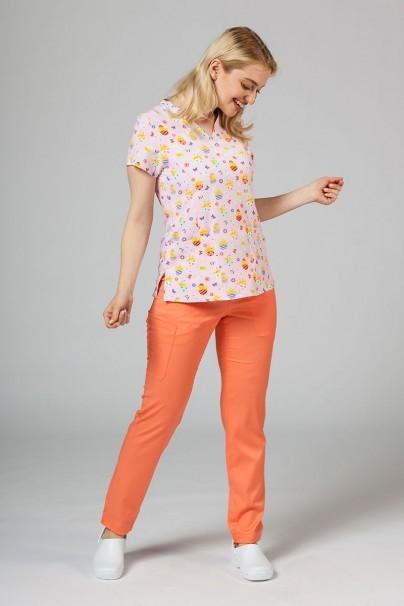bluzy-we-wzory Kolorowa bluza damska Maevn Prints pisklęta