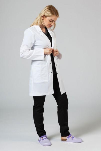 fartuchy-medyczne-damskie Fartuch medyczny Adar Uniforms Snap biały (elastic)
