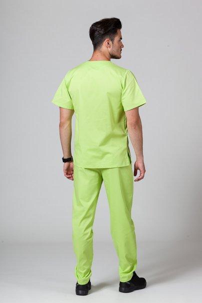 komplety-medyczne-meskie Komplet medyczny męski Sunrise Uniforms limonkowy (z bluzą uniwersalną)
