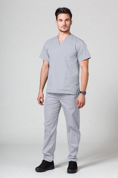 bluzy-medyczne-meskie Bluza medyczna uniwersalna Sunrise Uniforms ciemny popiel promo