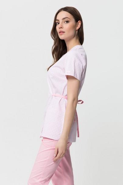 bluzy-medyczne-damskie Fartuszek medyczny wiązany Vena Kate biały - print small