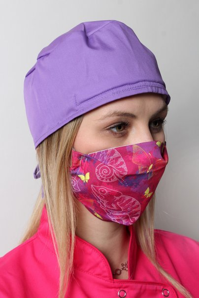 maski-ochronne Maska ochronna wielokrotnego użytku z jonami srebra, 2-warstwowa, 100% bawełna, wzór: kameleony