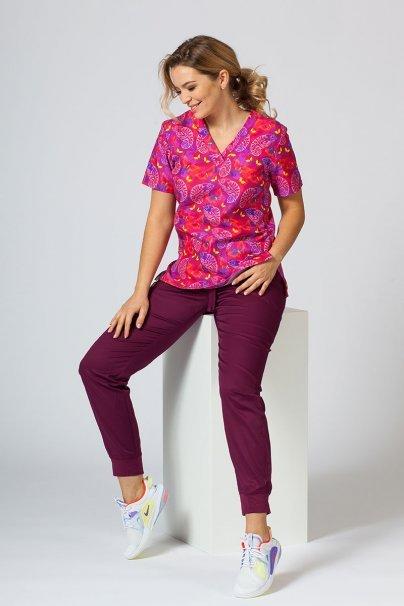 bluzy-we-wzory Kolorowa bluza medyczna damska Sunrise Uniforms kameleony