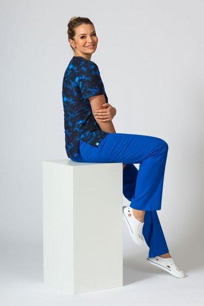 bluzy-we-wzory Kolorowa bluza medyczna damska Sunrise Uniforms niebo i gwiazdy