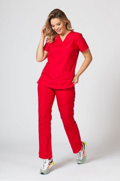 spodnie-medyczne-damskie Spodnie damskie Maevn Red Panda czerwone