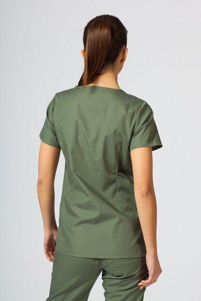 bluzy-medyczne-damskie Bluza damska Maevn Red Panda Asymetric oliwkowa