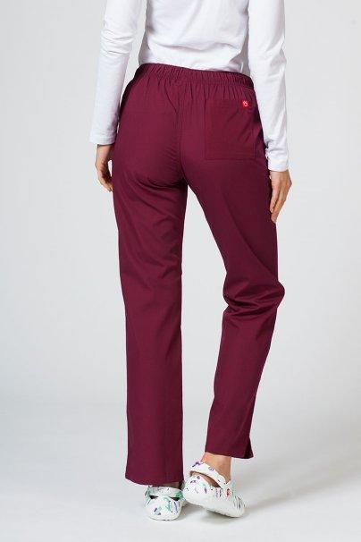 spodnie-medyczne-damskie Spodnie damskie Maevn Red Panda wiśniowe