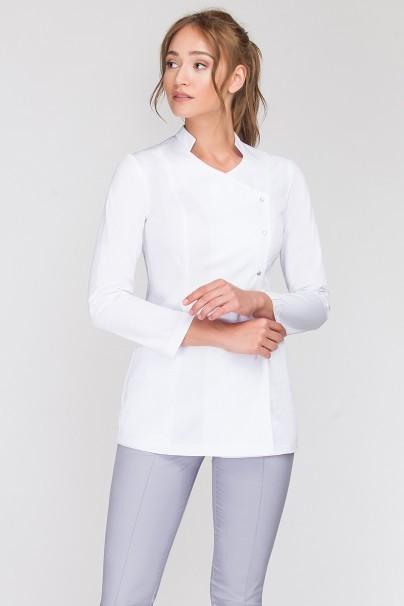 tuniki Fartuszek medyczny Isabel z długim rękawem biały
