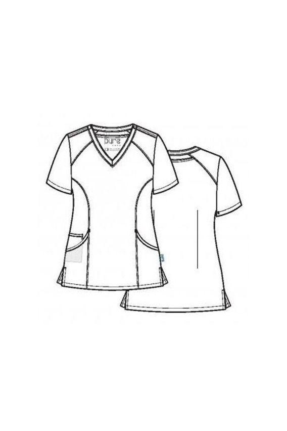 bluzy-medyczne-damskie Bluza damska Maevn Pure Modern czarna