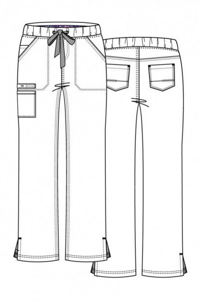spodnie-medyczne-damskie Spodnie medyczne damskie Maevn PrimaFlex białe