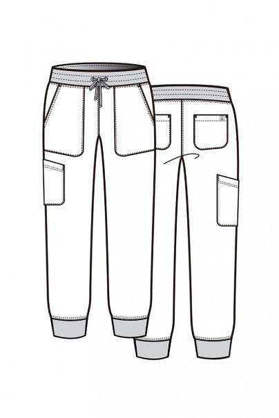 spodnie-medyczne-damskie Spodnie damskie Maevn Matrix Impulse Jogger koralowe