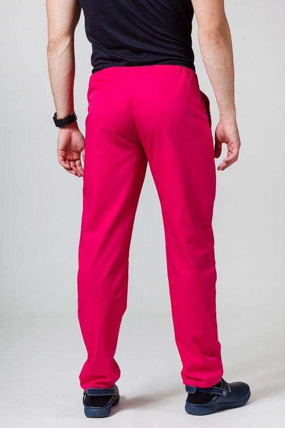 spodnie-medyczne-meskie Spodnie medyczne uniwersalne Sunrise Uniforms malinowe