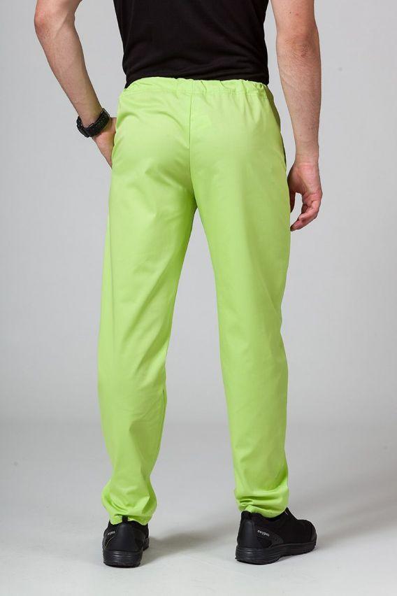 spodnie-medyczne-meskie Spodnie medyczne uniwersalne Sunrise Uniforms limonkowe