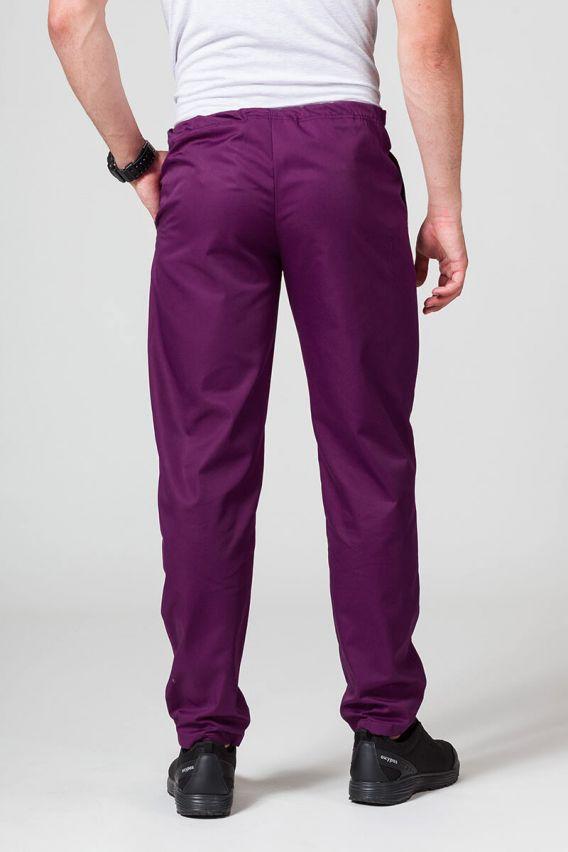 spodnie-medyczne-meskie Spodnie medyczne uniwersalne Sunrise Uniforms ciemna oberżyna