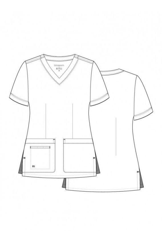 bluzy-medyczne-damskie Bluza damska Maevn Blossom (elastic) różowa