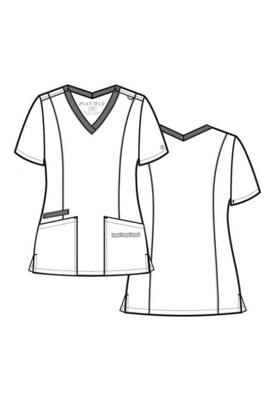 bluzy-medyczne-damskie Bluza damska Maevn Matrix koralowa
