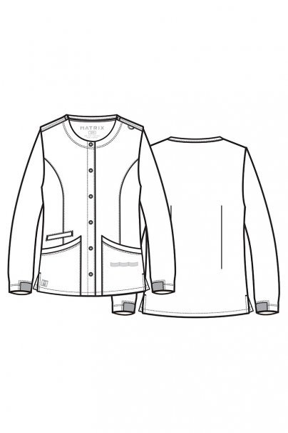 bluzy-medyczne-damskie Bluza damska rozpinana Maevn Matrix szara
