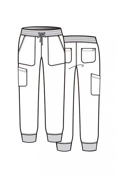 spodnie-medyczne-damskie Spodnie damskie Maevn Matrix Impulse Jogger oliwkowe