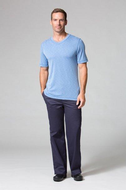 koszulki-medyczne-meskie-z-krotkim-rekawem Koszulka męska Maevn Modal niebieska