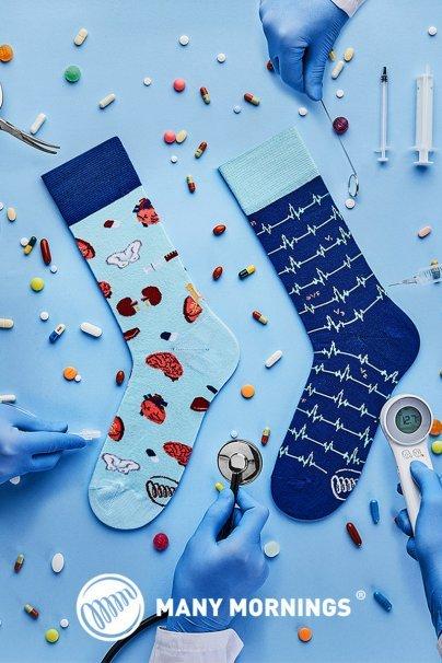 skarpetki Kolorowe skarpetki dr Sock - Many Mornings