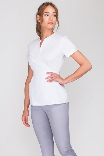 bluzy-medyczne-damskie Fartuszek medyczny wiązany Vena Spa 4 biały