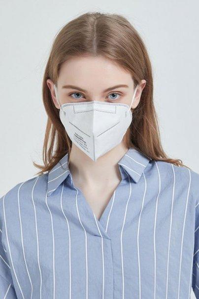 jednorazowe Ochronna maska, półmaska FFP2 (N95), czterowarstwowa, Certyfikat CE. Cena za 2 sztuki.
