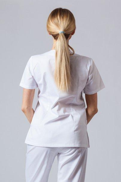 bluzy-medyczne-damskie Bluza medyczna damska Sunrise Uniforms biała taliowana promo