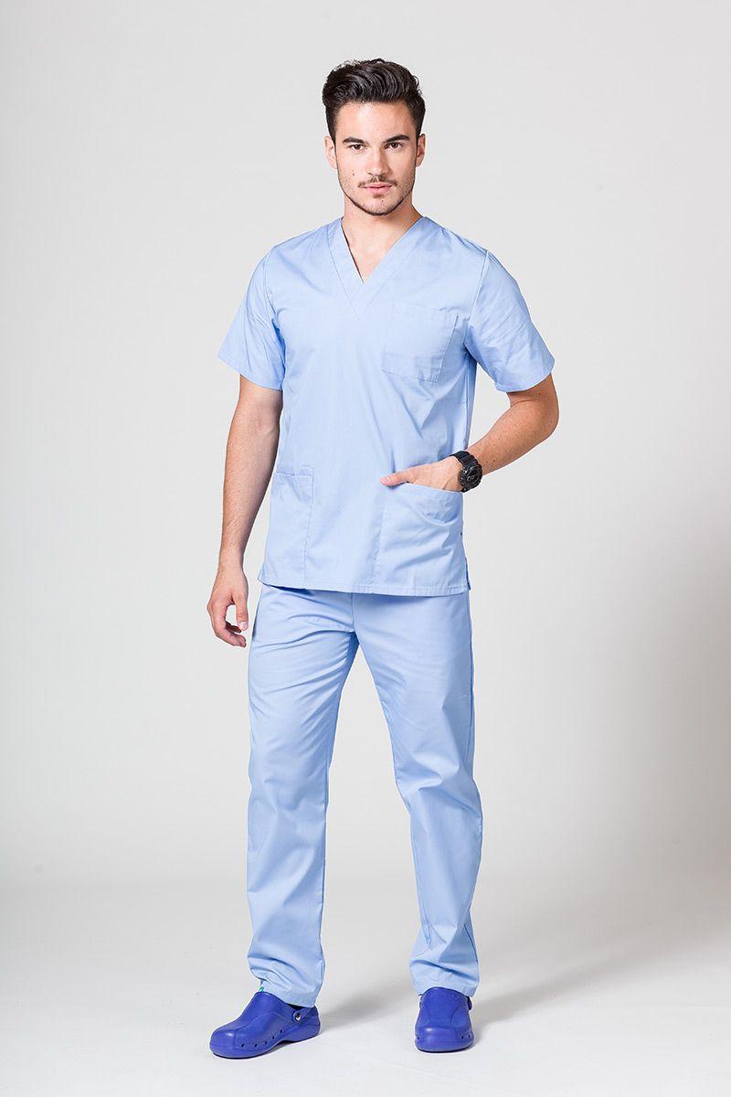 Komplet medyczny męski Sunrise Uniforms niebieski (z bluzą uniwersalną)