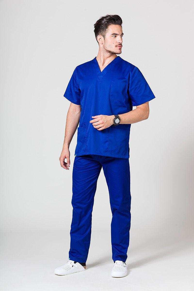 Komplet medyczny męski Sunrise Uniforms granatowy (z bluzą uniwersalną)