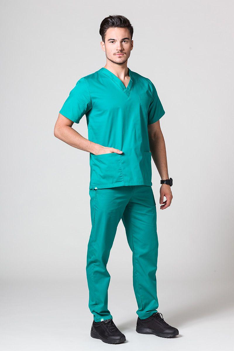 Komplet medyczny męski Sunrise Uniforms zielony (z bluzą uniwersalną)