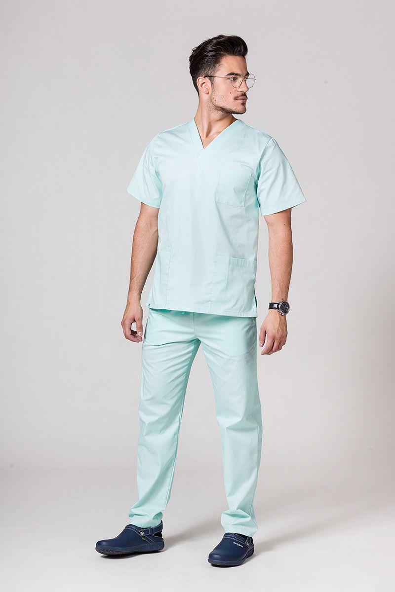Komplet medyczny męski Sunrise Uniforms miętowy (z bluzą uniwersalną)