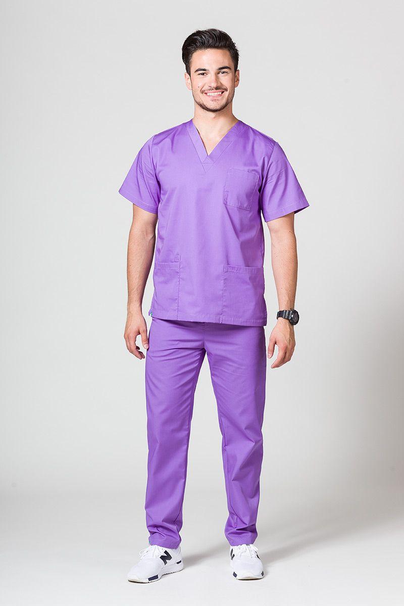 Komplet medyczny męski Sunrise Uniforms fioletowy (z bluzą uniwersalną)