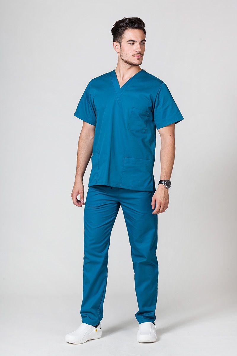 Komplet medyczny męski Sunrise Uniforms karaibski błękit (z bluzą uniwersalną)