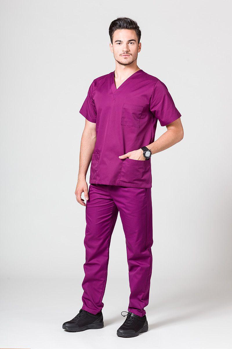 Komplet medyczny męski Sunrise Uniforms jasna oberżyna (z bluzą uniwersalną)