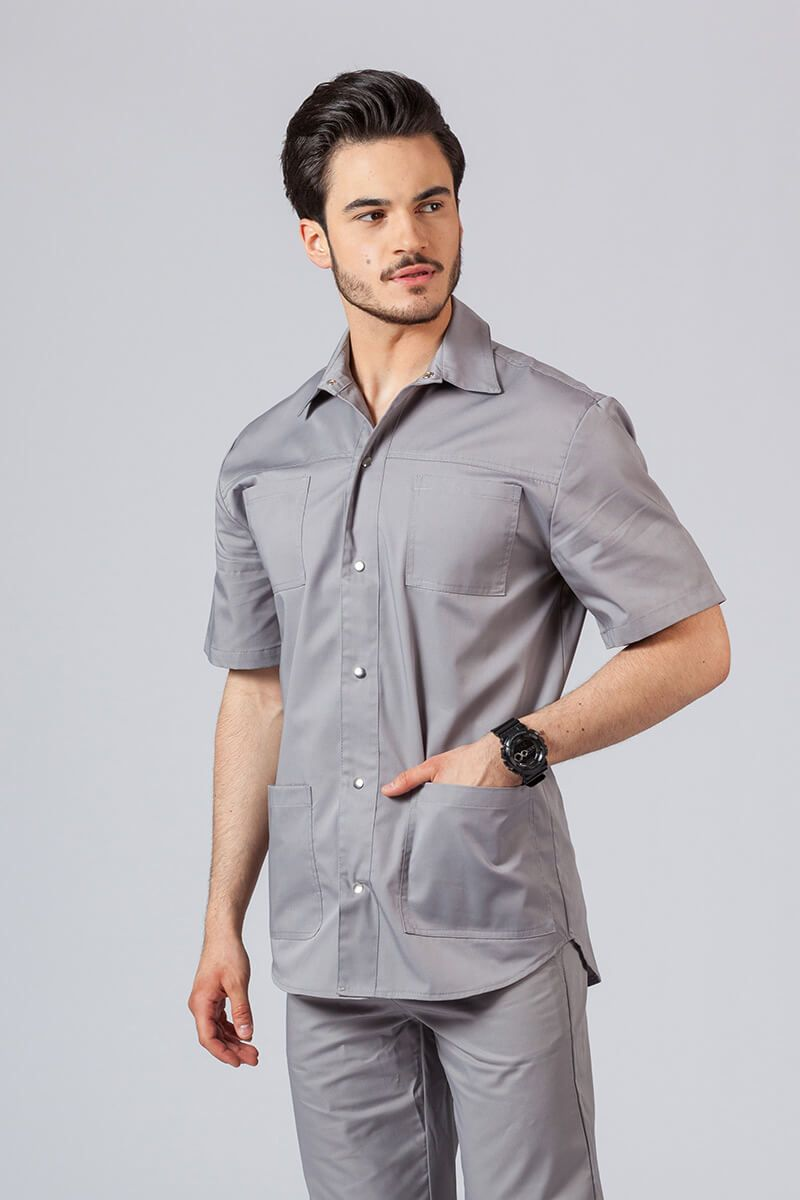 Klasyczna bluza medyczna męska szara