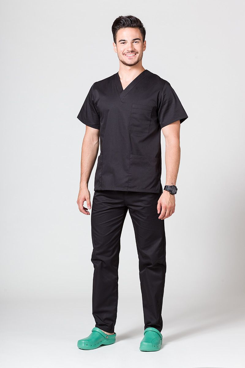 Komplet medyczny męski Sunrise Uniforms czarny (z bluzą uniwersalną)