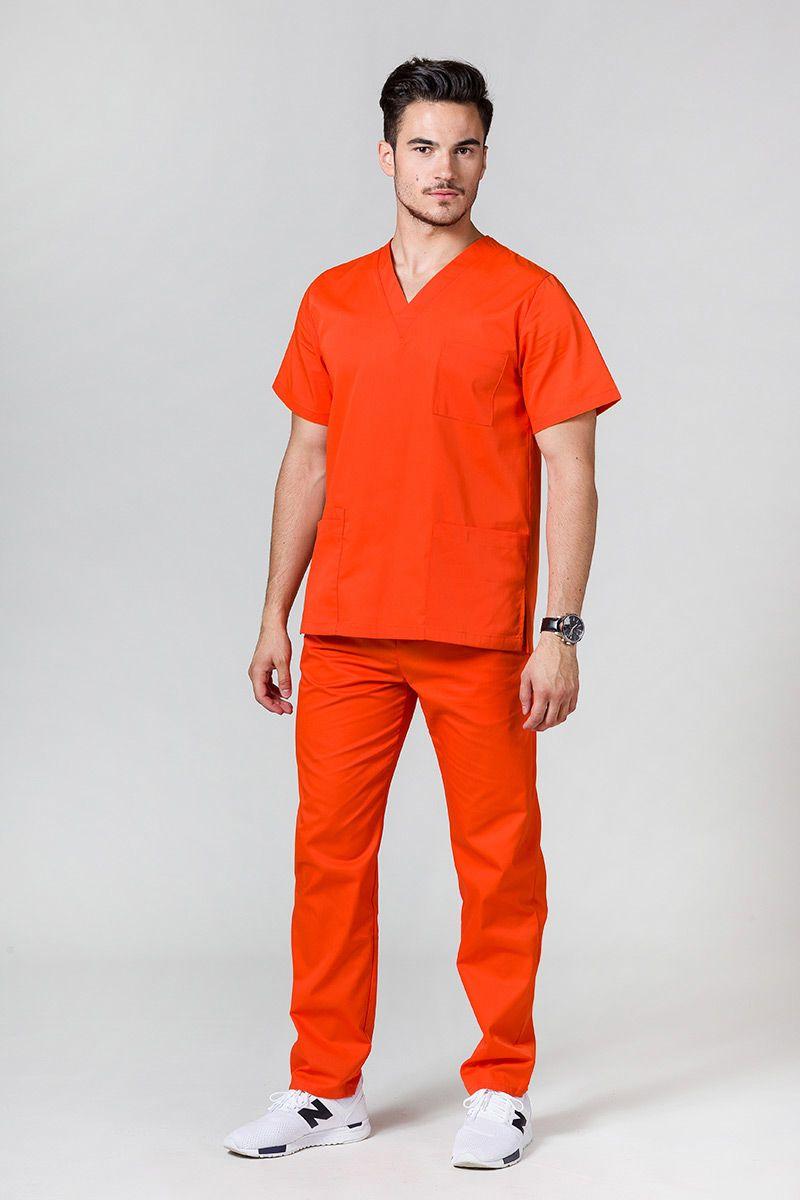 Komplet medyczny męski Sunrise Uniforms pomarańczowy (z bluzą uniwersalną)