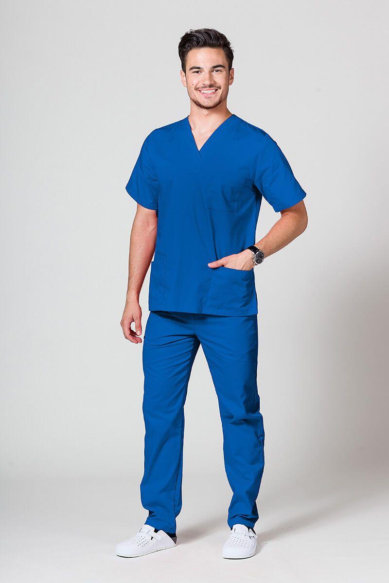 Komplet medyczny męski Sunrise Uniforms królewski granat (z bluzą uniwersalną)