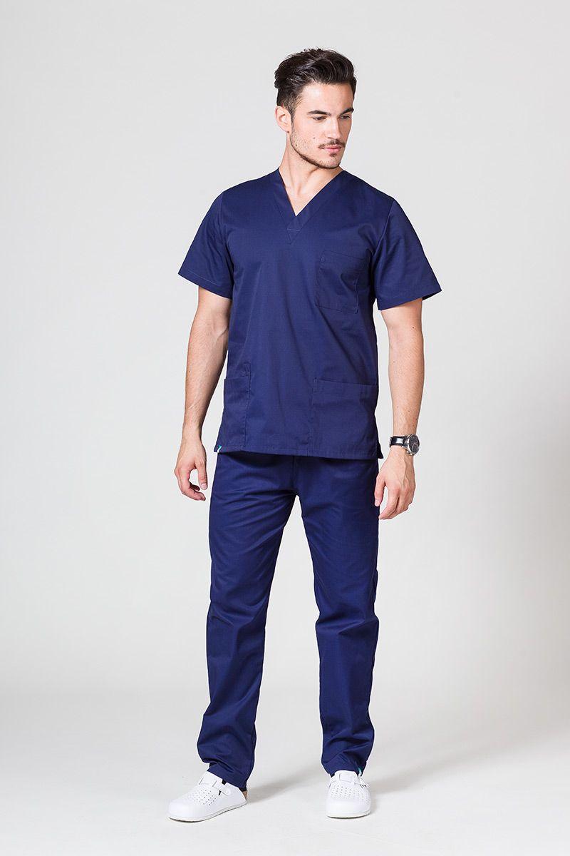 Komplet medyczny męski Sunrise Uniforms ciemny granat (z bluzą uniwersalną)