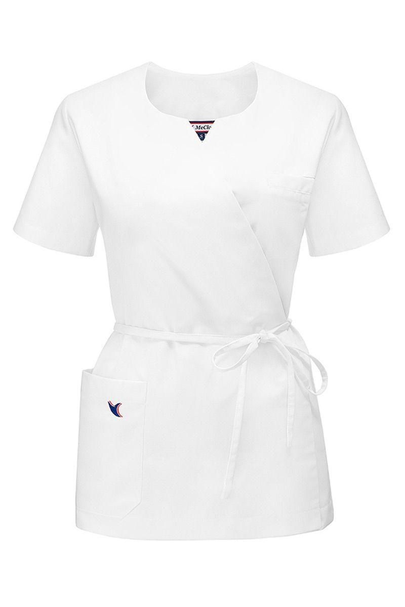 Bluza medyczna damska na wiązanie MeClo biała
