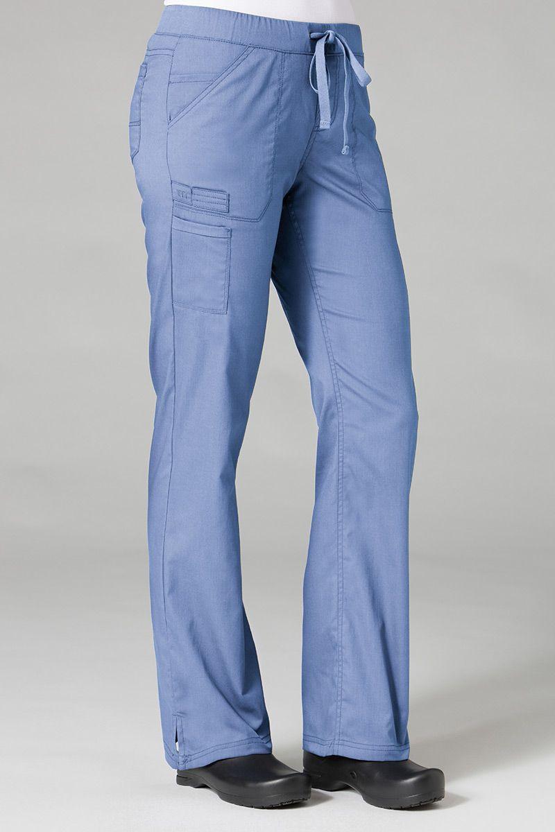 Spodnie medyczne damskie Maevn PrimaFlex klasyczny błękit