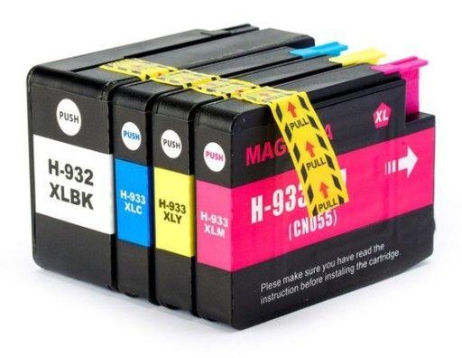 Tusz do HP 932 XL 933 XL 6100 6600 6700 (4 x tusze)